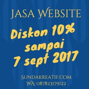 Promo Jasa Website September 2017