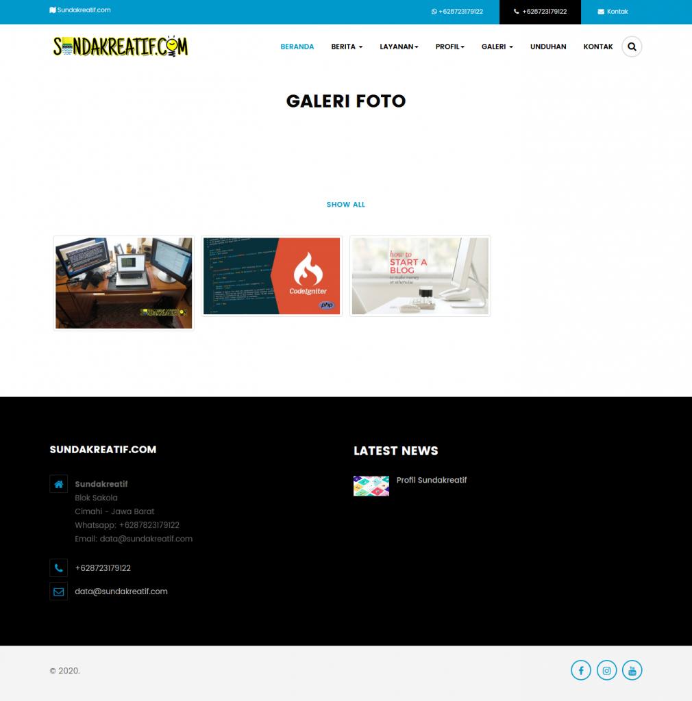 Download Source Code Company Profile PHP Codeigniter