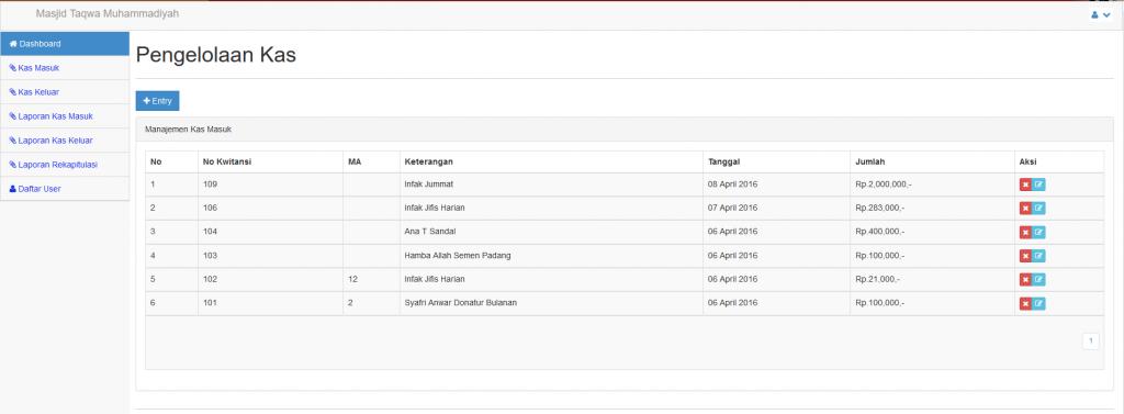 Download Aplikasi Kas Gratis Berbasis Web PHP