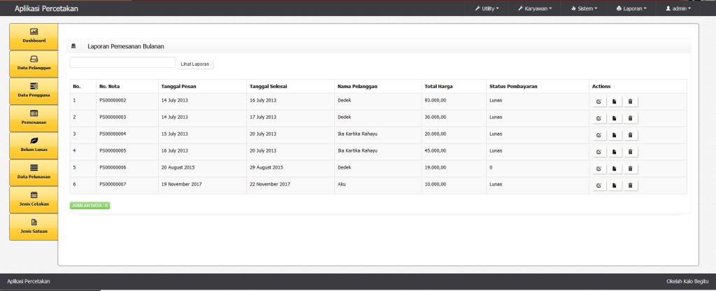 Download Aplikasi Percetakan Gratis Basis Web