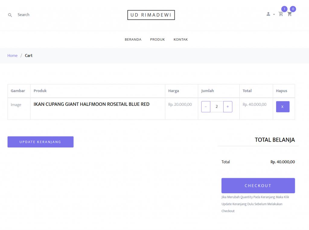 Keranjang Web E-commerce / Toko Online Laravel